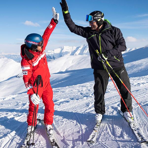 Cours de ski privé demi-journée